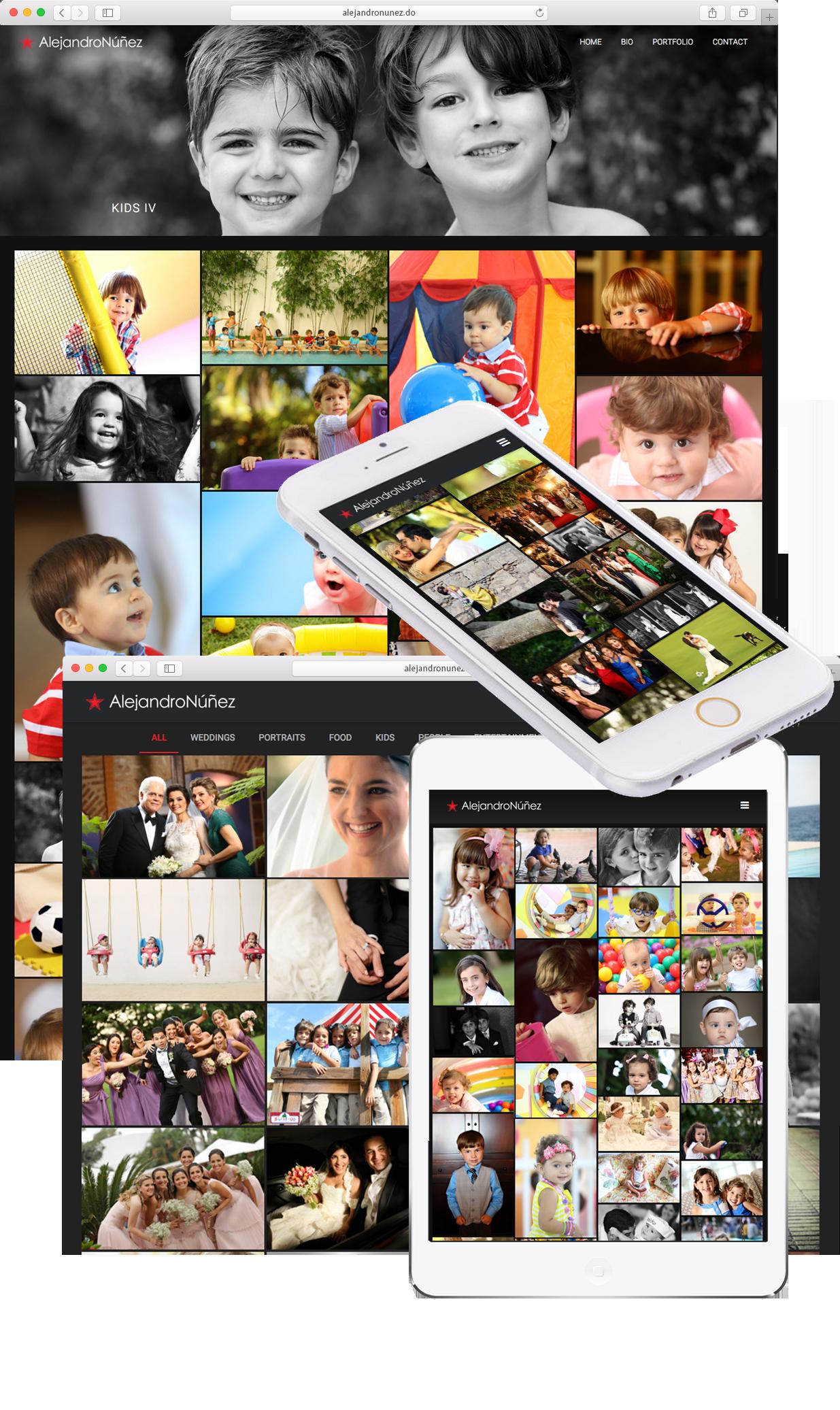 Diseño de página web paa fotógrafo Alejandro Núñez en Wordpress