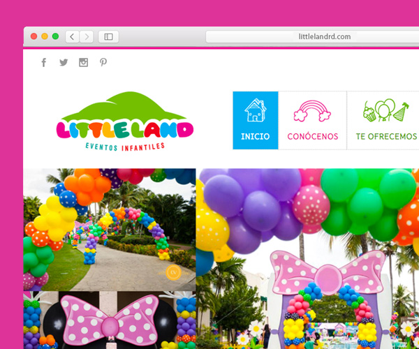 vanessa simpson littleland kids web design wordpress