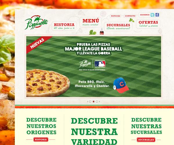 Diseño web Pizzarelli Restaurante en Wordpress