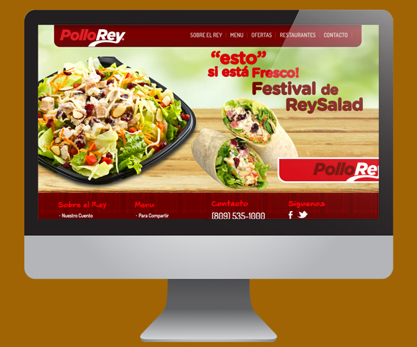 Diseño de página web para Pollo Rey en Wordpress